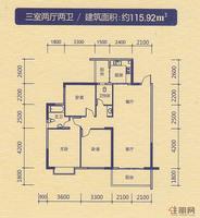 中恒·水岸花园三室两厅两卫1
