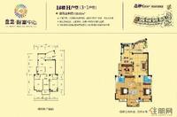 盘龙·财富中心1#楼H户型图
