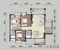 北面住宅6#楼E户型