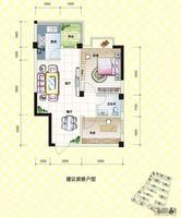 振宁现代鲁班振宁・现代鲁班A-1户型图2室2厅1卫53.00�O