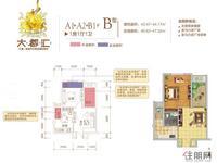A1/A2/B1#B户型1房1厅1卫