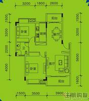 远通上城2#楼  01.02户型2室2厅1卫88.00�O