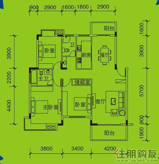 远通上城3#、5#、6#、7# 01.02户型 3室2厅0卫125.96�O