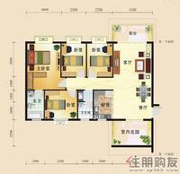 东方国际A2四房户型