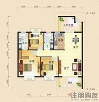 东方国际C1三房户型