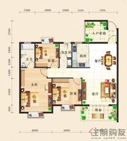 东方国际C2三房户型