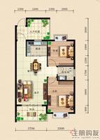 东方国际D1二房户型