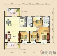 东方国际D2四房户型