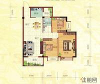 金鼎·国际花园1号楼D户型