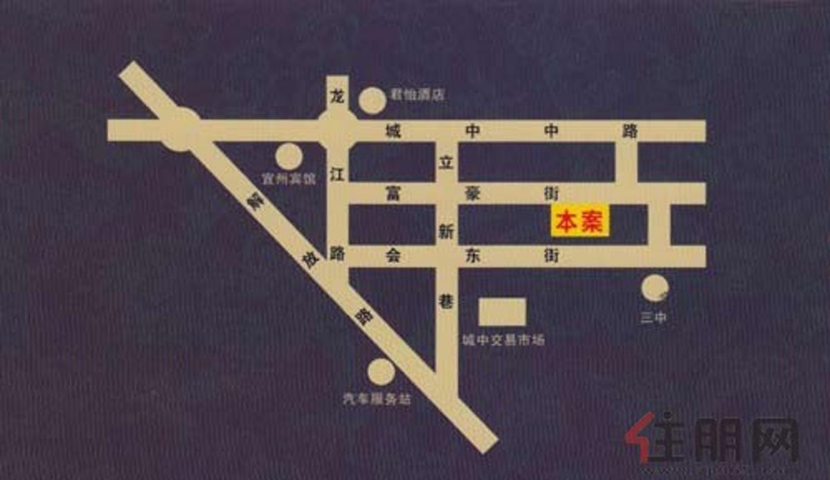 帝王商贸城交通图