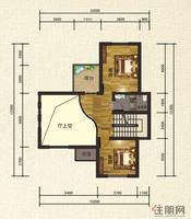 C2户型2二层平面图