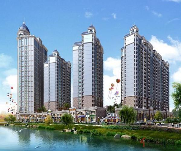 金鼎·国际花园沿江透视
