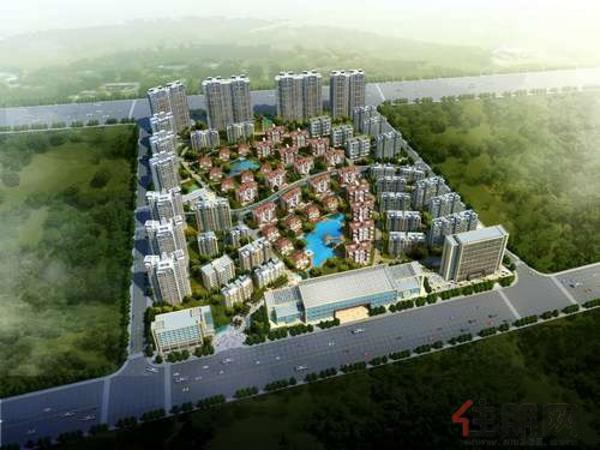 万泉城二区鸟瞰图2011·10·21