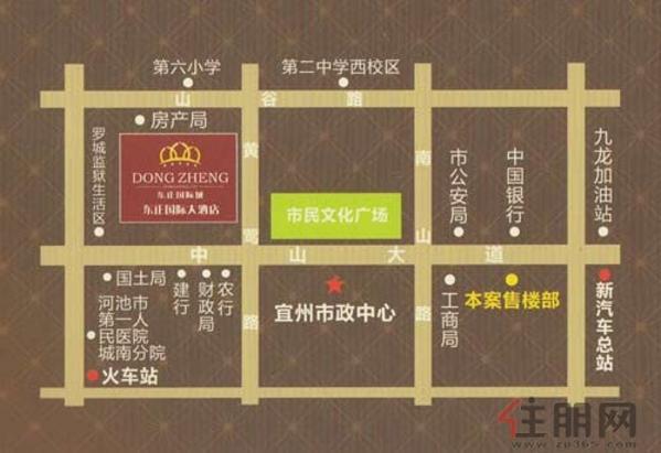 东正国际城交通图