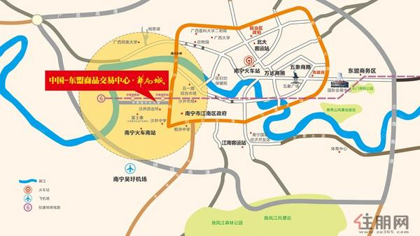 华南城区位地图