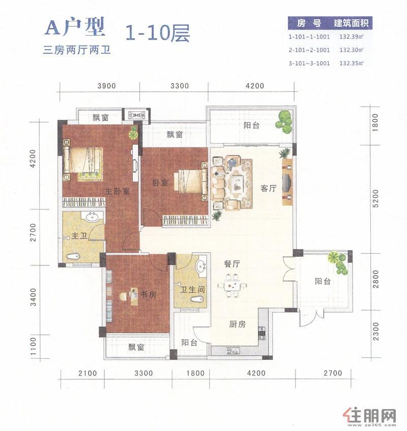 设计图分享 四房一厅楼房设计图纸 > 房屋设计图9条粗三楼四房一厅