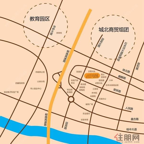 项目位置:来宾市城北区迎宾路