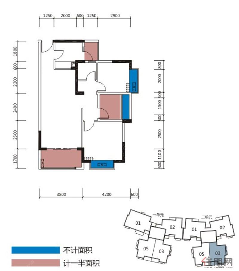 龙光拉菲庄园3#楼2单元3号房工程结构图; 户型