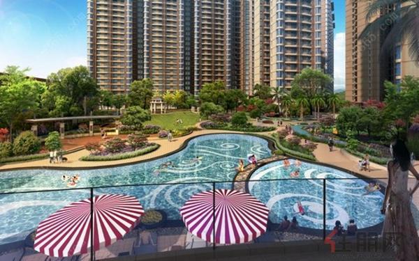 晟大·海湾城 中心花园景观