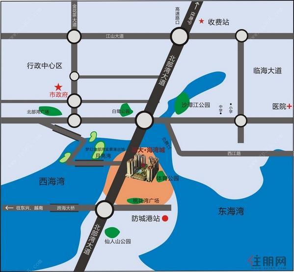 晟大·海湾城 区位图
