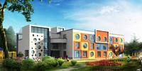 防城港市中央商务区CBD(北区)效果图|幼儿园透视图