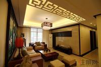 东兴边贸中心北仑华府样板间图|中式样板间・客厅