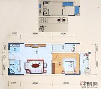 三生天海观邸B座02、03、07、08户型1室1厅1卫60.00�O
