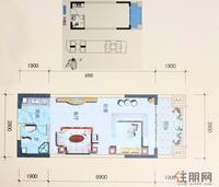 三生天海观邸A座02、06户型1室1厅1卫45.00�O
