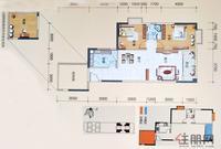 三生天海观邸B座01、05、06、09户型2室2厅1卫86.00�O