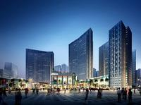 荣顾购物公园效果图|中央商务区CBD(南区)夜景