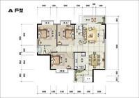 天香国际天香国际---户型图-A3室2厅2卫126.08�O