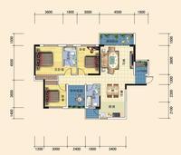 1栋楼A1  3+1户型