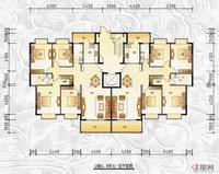 13#楼AB单元一层平面图