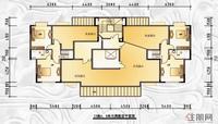 13#楼AB单元偶数层平面图