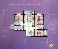 锦泰现代城B户型3室2厅2卫125.60�O
