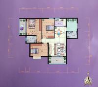 锦泰现代城C户型3室2厅2卫106.50�O