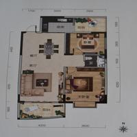 新世界国际旅游商贸城G户型2室1厅1卫92.64�O