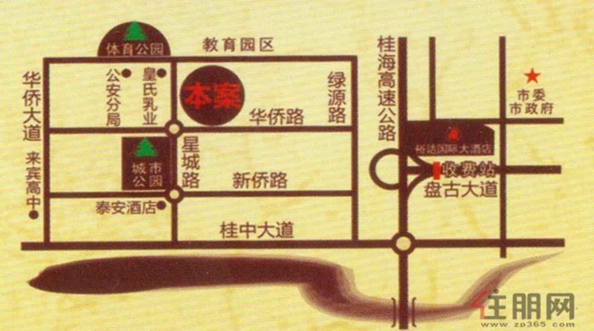 1月4日罗马世家交通区位图
