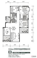观澜溪谷17、18#楼B户型4室2厅2卫151.00�O