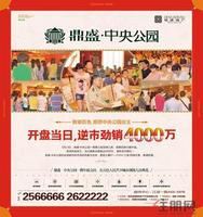鼎盛中央公园广告欣赏|鼎盛・中央公园5月13日开盘