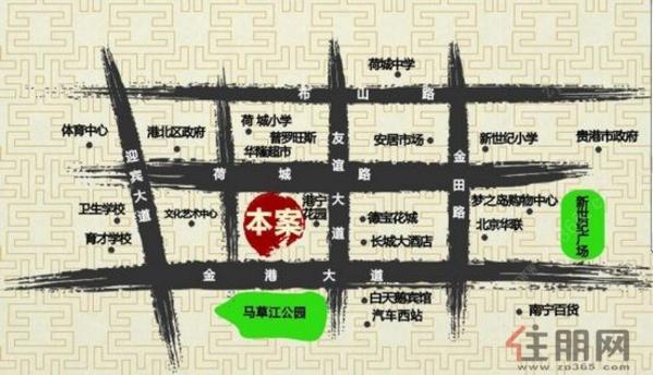 国旺花园区位图