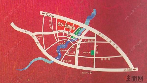 恒力·龙湖新城区域图