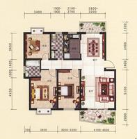 10#楼三房户型