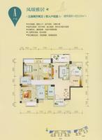 碧园南城故事53#、54#楼A户型3室2厅2卫119.00�O