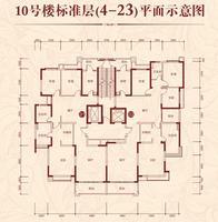 10号楼标准层平面示意图