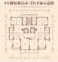 8号楼标准层平面示意图