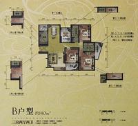 汇荣桂林桂林B户型3+1房2厅2卫