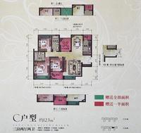 汇荣桂林桂林C户型3+1房2厅2卫