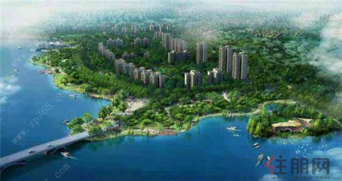 龙城国际酒店公寓对面的沧海湖