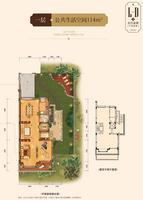 金源城L-D中央墅(北入口)1层户型5室0厅0卫114.00�O